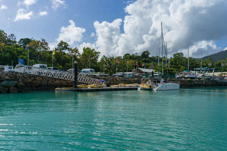 airlie: Airlie Beach, Australia - February 5, 2017: Abel Point Marina. Airlie Beach, Whitsundays, Queensland, Australia Editorial
