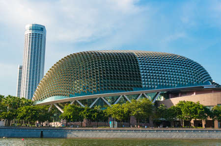 Singapore, Singapore - October 4, 2014: Theatres on the Bay building at Marina Bay in Singapore