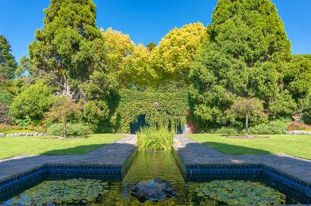 Landscape of Pioneer Women s Memorial Garden in the Royal Botanic Gardens in Melbourne, Victoria, Australia Sajtókép