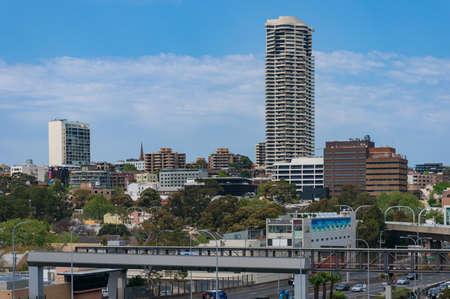 Sydney, Australia - September 23, 2017: Woolloomooloo suburb cityscape panoramic view