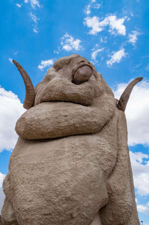 Golbourn, Australia - December 5, 2008: Big Merino sculpture, tourist attraction in Golbourn - a regional city of NSW
