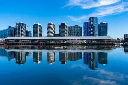 Melbourne, Australia - December 7, 2016: NewQuay waterfront property skyline in Docklands