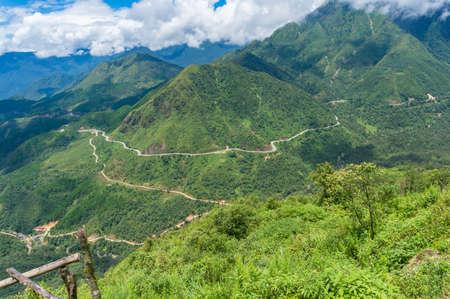 Mountain valley on summer day nature background. Heaven Gate, Vietnam 写真素材