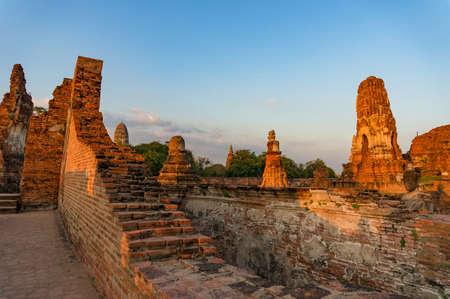 Ancient ruins of Wat Mahathat temple in Ayutthaya, Thailand. Travel destination, international landmark Stock Photo