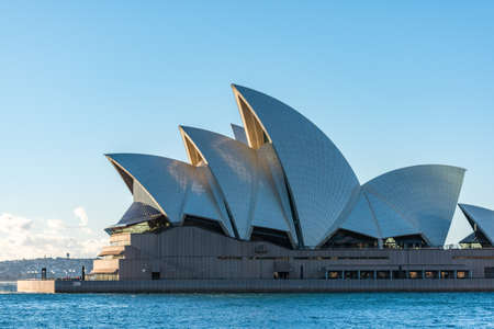 Sydney, Australia - July, 23, 2016: Sydney main landmark Sydney Opera House on clear sunny day
