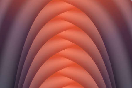 Abstract gradients background design of fluid shapes forming tunnel. Vector shapes composition with trendy gradients