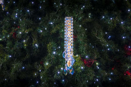 Sydney, Australia - November 22, 2014: Close up of famous Swarovski crystal Christmas decoration on Christmas tree in Queen Victoria Building in Sydney CBD Editorial