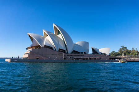 Sydney, Australia - July 23, 2016: ydney Opera House building view from Circular Quay. Sydney iconic landmark with waterview