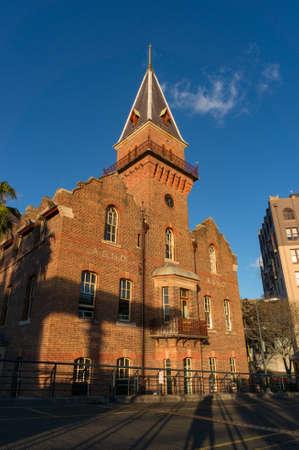 Sydney, Australia - July 23, 2016: Historic building of ASN Co landmark in The Rocks suburb of Sydney