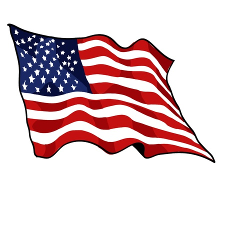 president of the usa: American flag