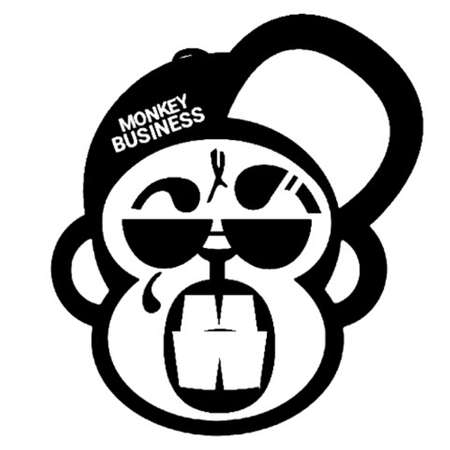 Punk rock monkey with tatoos, shades, grill and cap Illustration