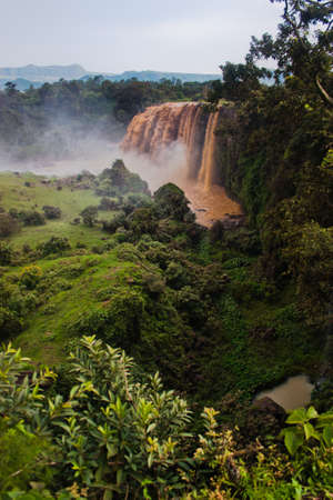 Waterfalls at Lake Tana, birth of Blue Nile in Ethiopia