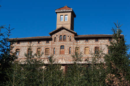 Big townhouse in the village called Viladrau at the Montseny National Park in Catalonia, nea Barcelona Stock Photo