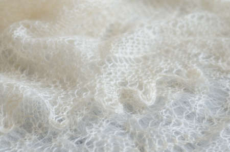 tradional: Tradional Russian knitted downy shawl for cold winter Stock Photo