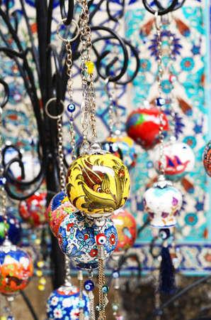 crockery: Colorful turkish crockery souvenirs Stock Photo