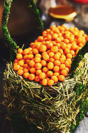 seabuckthorn: Sea-buckthorn in a basket