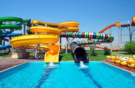 Aquapark sliders, aqua park, water park  Kirillovka, Ukraine
