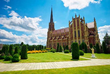 trinity: Holy Trinity catholic church, Gervyaty village, Grodno region, Belarus Stock Photo
