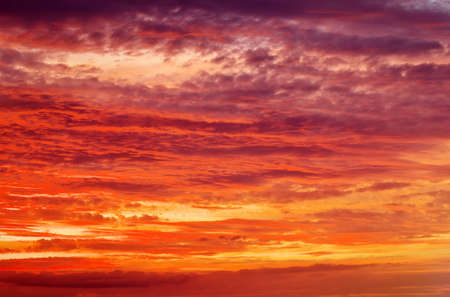 orange sunset: Fiery orange sunset sky. Beautiful sky.