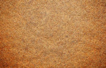 Mattress for a child made of coconut fiber. Background of coconut fiber