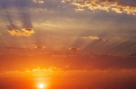 orange sunset: Fiery orange sunset sky. Beautiful sky. Sky Background