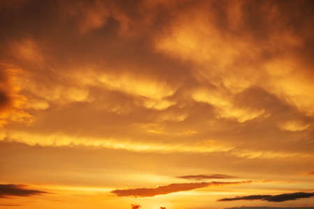 stormy: Beautiful stormy sunset sky. Stock Photo