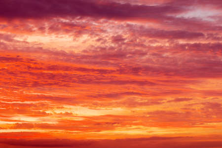 apocalyptic: Beautiful fiery orange and red apocalyptic sunset sky. Stock Photo