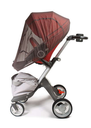 elite: Norway elite baby carriage isolated on a white background Stock Photo