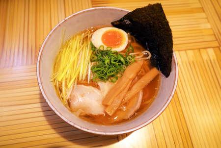 Shoyu ramen, traditional japanese dish. Asian cuisine