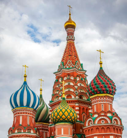 Saint Basils Cathedral close up view on Red Square in Moscow, Russia  Stok Fotoğraf
