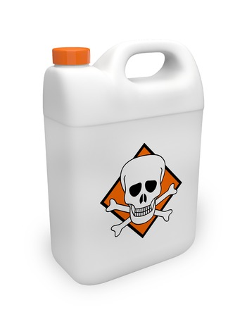 Toxic jerrican product 3D illustration Stock Photo