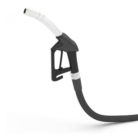 pomp benzine diesel pistool pistoolgreep 3D illustratie Stockfoto