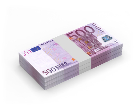 currency euro banknotes 3D illustration