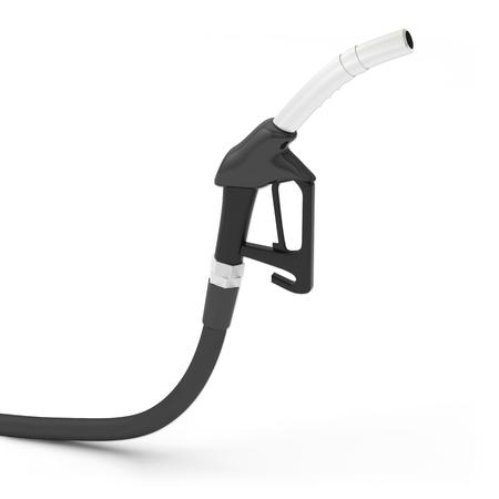 pomp benzine diesel pistool pistoolgreep Stockfoto