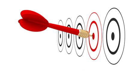 dart arrow target goal reach 3D 스톡 콘텐츠
