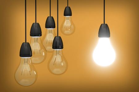 bulb light idea light innovation 3D Stockfoto
