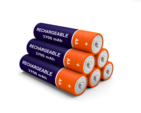 3D rechargeable battery Stock Photo