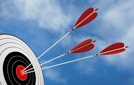 target arrow objective strategy success 3D