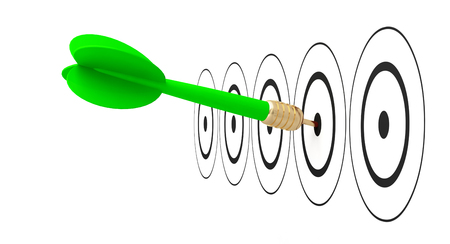 dart arrow target goal reach 3D illustration