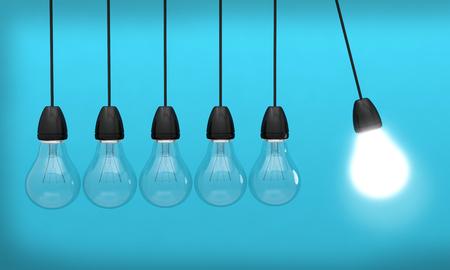 Bulb light idea light innovation 3D