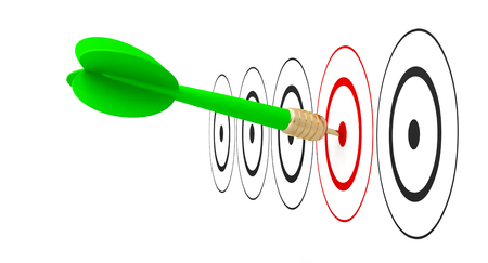 dart arrow target goal reach 3D Foto de archivo