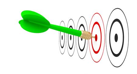 dart arrow target goal reach 3D Stock fotó