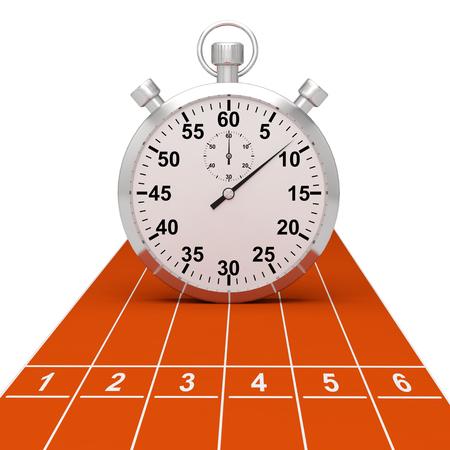 chronomètre sport 3D Banque d'images