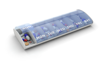 pill organizer medication 3D