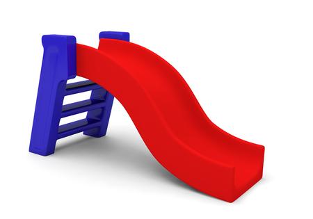 slide playground park children play 3D Stock Photo