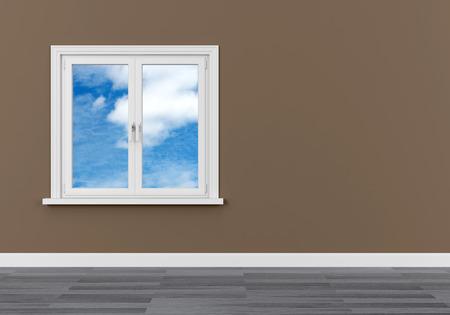 window sky clouds dream dream vision serene 3D Foto de archivo - 116440828