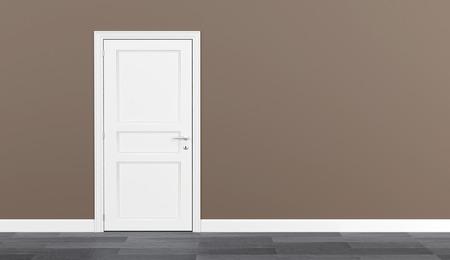 closed door 3D Foto de archivo - 116440829