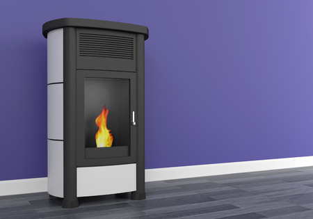 Pellet stove heating