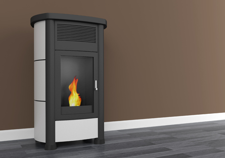 Pellet stove heating 3D