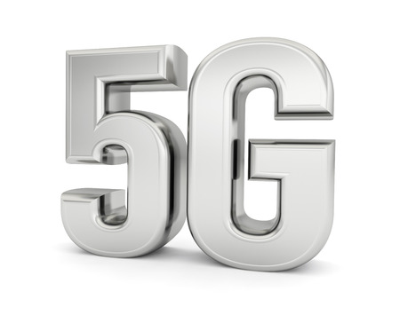 5G network technology wireless internet 3D Text Foto de archivo - 119668257